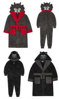 Junge Nachtbekleidung Gorilla oder Wolf Bademantel einen Stück Anzug Wähle Stil
