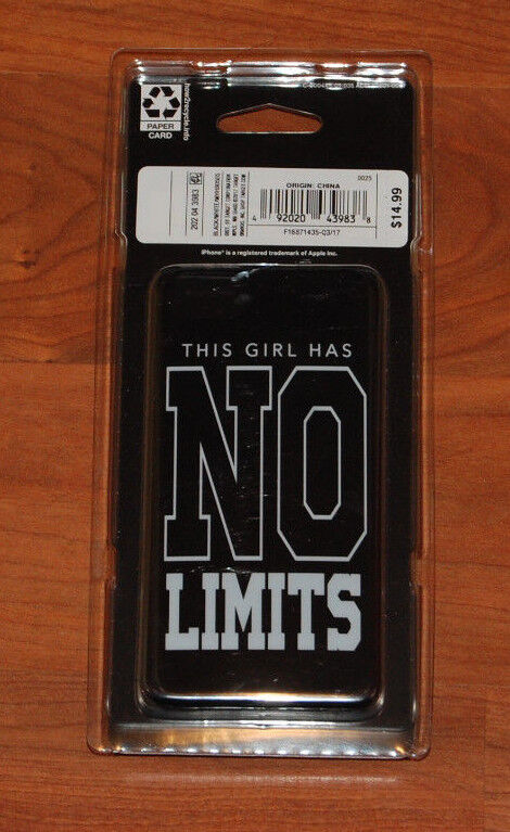 NEW Girls 2pk IPhone 7 Hard Case Black White Art Class Girl Power No Limits  - $2.99