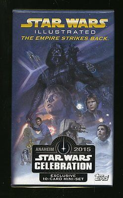 2015 Star Wars Celebration Topps Empire Strikes Back Illustrated 10 Card Set