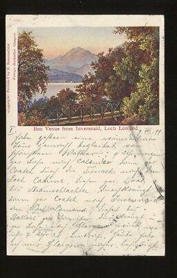 Scotland Dunbartonshire LOCH LOMOND Inversnaid 1899 PPC