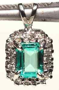HIGH END EMERALD AND DIAMOND PENDANT