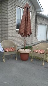 Patio Set with wicker chairs