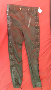 TRIPP style small size (0-2) fake leather pants laced up