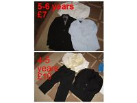 boys suits, jackets, shirts 4-5 years and 5-6 years