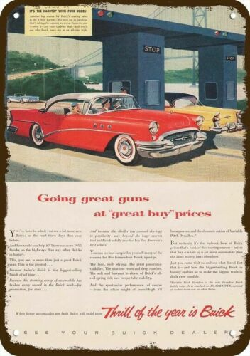 1955 BUICK ROADMASTER V-8 CAR Vintage Look DECORATIVE METAL SIGN IT THRILLS YO