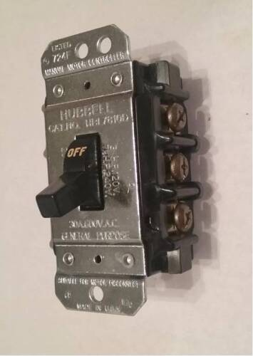 Hubbell HBL7810D - Manual Motor Switch, 30A, 600V. 3PH, NEW. Free Shipping