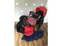 Bugaboo Cameleon chameleon 3 black chassis and a lots of extras