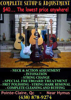 COMPLETE GUITAR TUNE-UPS ~ UNBEATABLE PRICE ~ SAME DAY!