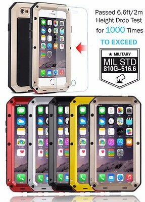 Shockproof Aluminum Glass Metal Case Cover for iPhone SE 5C 5S 6 7 & 7 Plus - Iphone Metal Cases