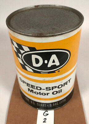 D A Speed-sport Motor Oil Quart Can (G2), Gas, Oil
