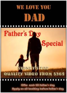 Father's Day - Mega Deal from $365 event Videos Sydney City Inner Sydney Preview