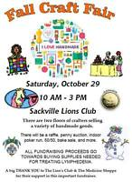 Fall Craft Fair (Fundraiser)