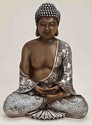 Deko Asien BUDDHA 29cm Thailand Figur Statue Skulptur FENG SHUI NEU