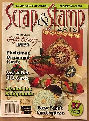 Scrap & Stamp Gift Wrap Ideas Christmas Ornament Nov/Dec 2014 FREE - Christmas Gift Wrapping Ideas