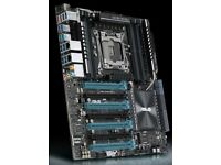 ASUS X99-EWS 3.1 Motherboard + 2 Corsair H115i Liquid coolers - all for £120!