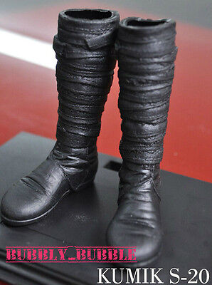 KUMIK 1/6 Black Widow Catwoman Long Boots FS20 For Hot Toys SHIP FROM USA (Hot Widow Boots)