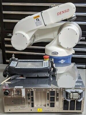 6 Axis Working Denso Robot Armcontrollerrobot Cableteach Pendant See Video