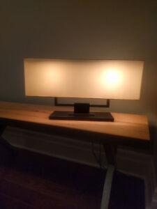 Table or desk square modern light fixture