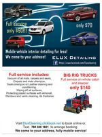 ELUX Detailing services - from 70$ per car!!!