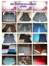 ladies clothes size 16-- £50 the lot or prices on pics