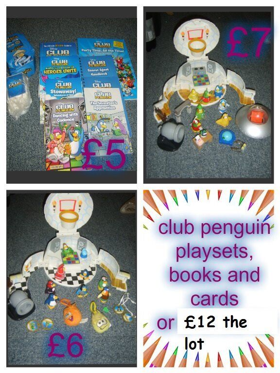 club penguin playsets and books collection only from didcot from a smoke and pet free home