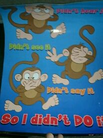 I didn't do it monkey poster