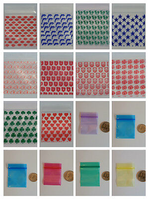 100 Ziplock Bags Baggies - You Choose The Size Design And Color - Huge Sale