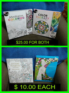 FOR SALE - ADULT COLORING BOOKS < NEVER USED >
