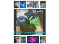 boys clothes 8 years and 8-9 years prices on pictures or £50 the lot