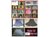 ladies clothes size 12 prices on pics or £25 the lot next trousers new