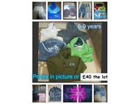 boys clothes 8 years and 8-9 years prices on pictures or £40 the lot