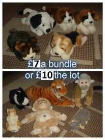 soft toys £7 per picture or £10 for all in both pictures