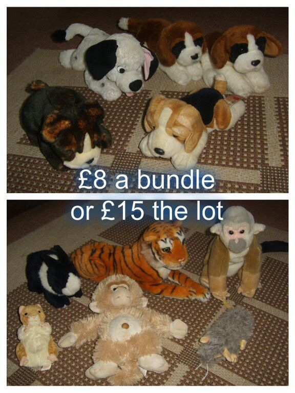 soft toys £8 a bundle or £15 for all in picture collection from didcot