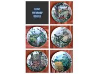 """COLIN NEWMAN'S """"COUNTRY PANORAMA SERIES"""" WEDGEWOOD PLATES"""
