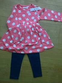 New With Tags. Dress with leggings set. 2-3years. (2 available)