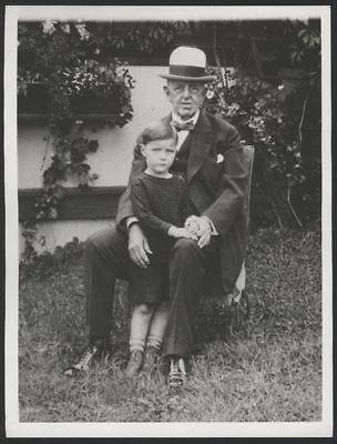 1929 Orig 1St Gen Press Photo  C A  Comiskey Grandson