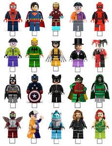 20 X LEGO SUPERHERO SPIDERMAN BATMAN STAND UP EDIBLE WAFER PAPER CARD ...