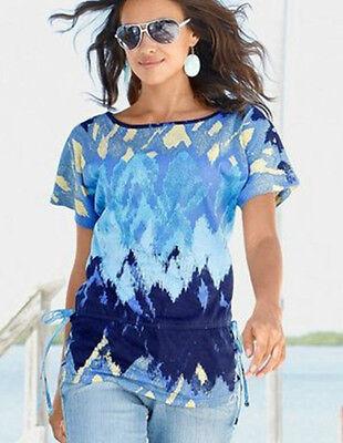 top trendy FLASHLIGHTS Capeshirt Shirt Tunika NEU türkis gelb blau