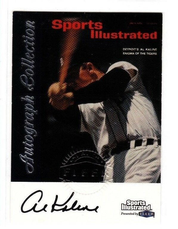 Al Kaline, Detroit Tigers HOFer  Autographed card, 1999 Fleer SI Embossed card