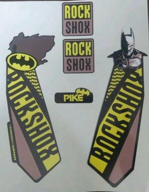 Pike Yari Blue Lyrik Pin up illustration.MTB DJ Rock Shox Fork Decals