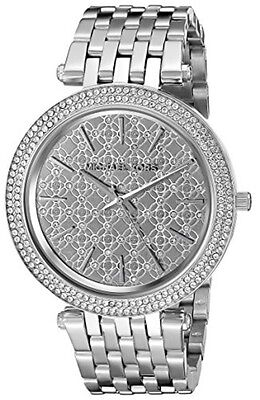 Michael Kors Women's MK3404 Darci Silver Crystal Dial Stainless Steel Watch