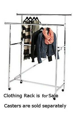 Z Brace Double Rail Garment Rack In Chrome - 5 L X 24 W X 48-72 H Inches