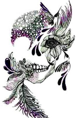 20 Sugar skull woman Nail Design Nail Manicure Tip Sticker Decal Decoration (Sugar Skull Nails)