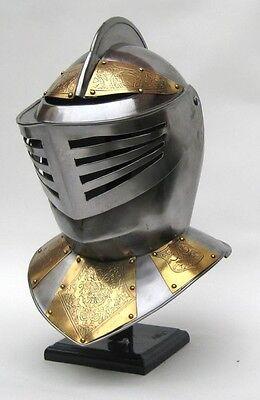 Golden Knight Rüstung Helm Mittelalter Kostüm ~ Mittelalter - Goldene Rüstung Kostüm