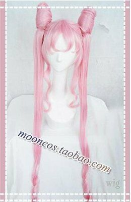 Cosplay Perücke Halloween Kostüm Weiß Sailor Moon black lady pink Anime