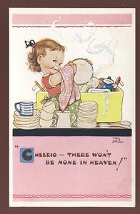 Children-MABEL-LUCIE-ATTWELL-Washing-up-artist-drawn-PPC-1950s