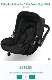 Brand new -In plastic / box Evolution pro 2 baby car seat