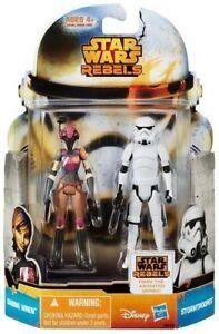 star wars-figurines rebels mission SABINE WREN ET STORMTROOPER