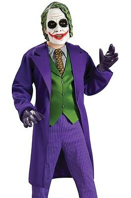 Batman Kids Costume (The Joker Costume Deluxe Child Boys Batman Dark Knight S 4-6, M 8-10, L)