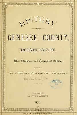 1879 GENESEE County Michigan MI, History & Genealogy Ancestry Family DVD CD B07
